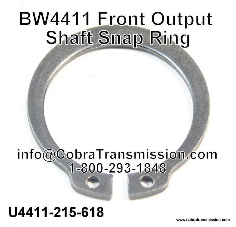 BW4411 Front Output Shaft Snap Ring