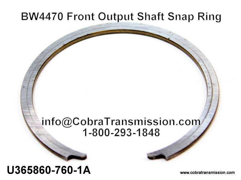BW4470 Front Output Shaft Snap Ring