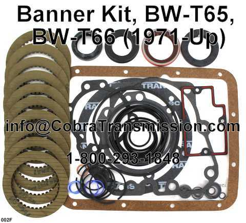Banner Kit, BW-T65, BW-T66 (1971-Up)