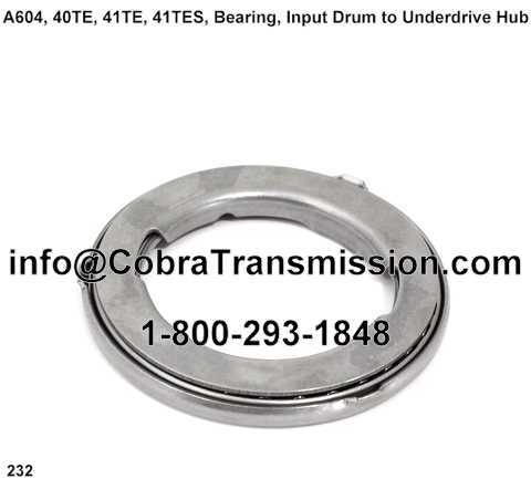 A604, 40TE, 41TE, 41TES, Bearing, Input Drum to Underdrive Hub