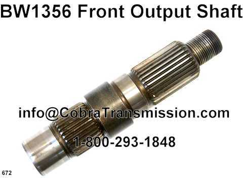 BW1356 Front Output Shaft