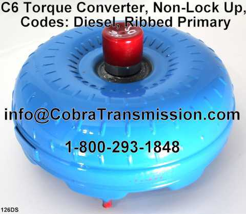 C6 Torque Converter, Non-Lock Up, Codes: Diesel, Ribbed Primary