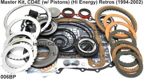 Master Kit, CD4E (w/ Pistons) (Hi Energy) Retros (1994-2002)