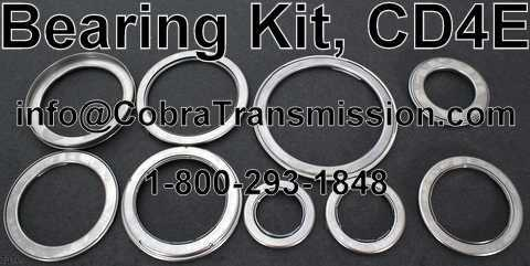 Bearing Kit, CD4E