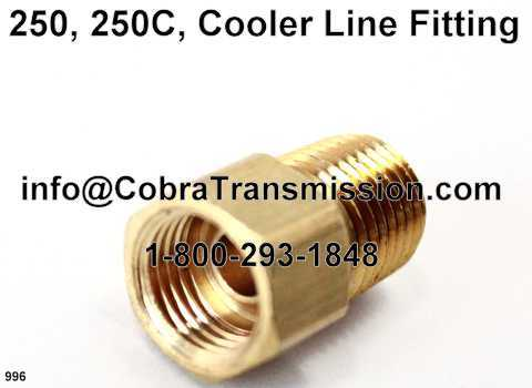 250, 250C, Cooler Line Fitting