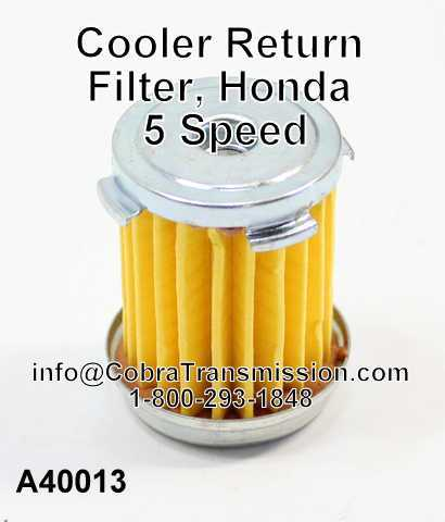 Cooler Return Filter, Honda 5 Speed