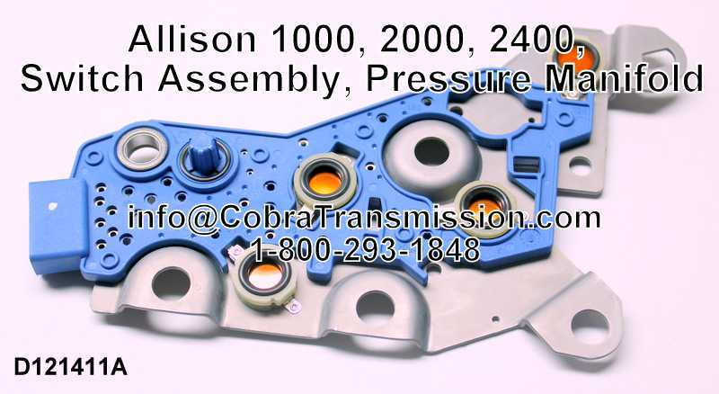Allison 1000, 2000, 2400, Switch Assembly, Pressure Manifold