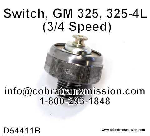 Switch, GM 325, 325-4L (3/4 Speed)
