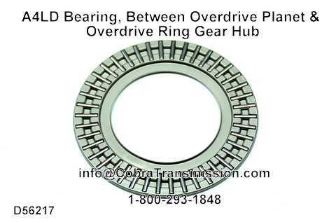 A4LD Bearing, Between Overdrive Planet & Overdrive Ring Gear Hub