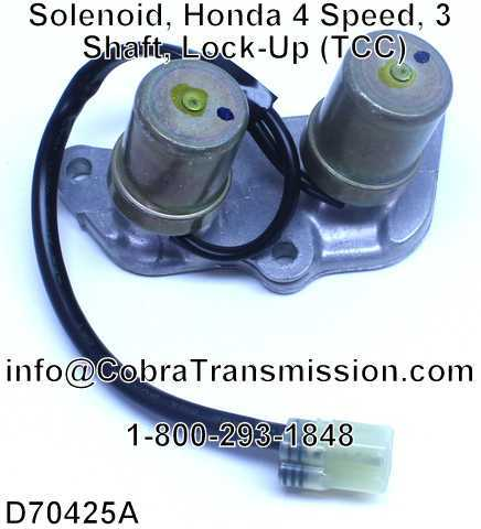 Solenoid, Honda 4 Speed, 3 Shaft, Lock-Up (TCC)