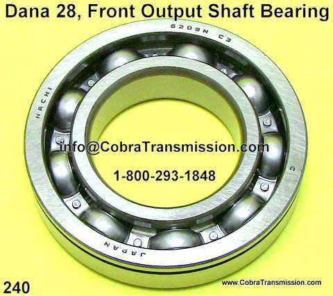 Dana 28, Front Output Shaft Bearing