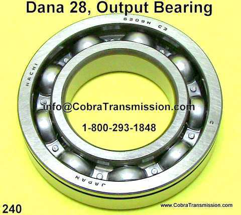 Dana 28, Output Bearing