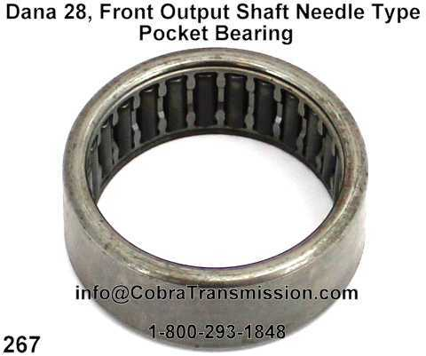 Dana 28, Front Output Shaft Needle Type Pocket Bearing