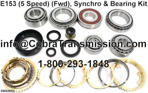 E153 Synchro, Bearing, Gasket and Seal Kit