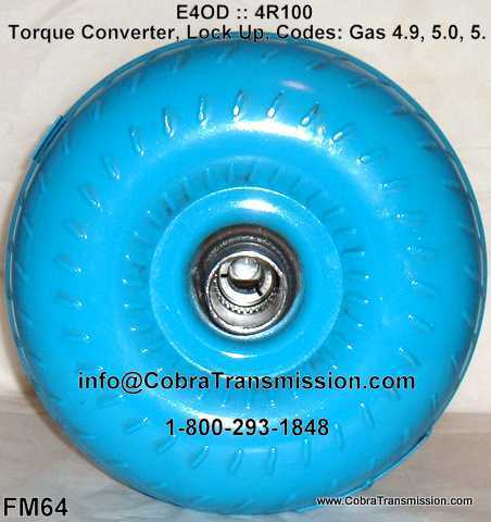 E4OD :: 4R100 Torque Converter, Lock Up, Codes: Gas 4.9, 5.0, 5.