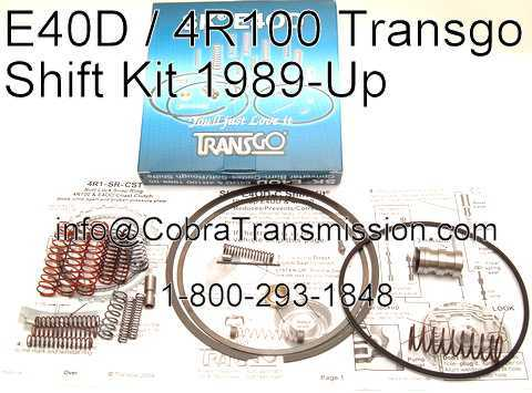 Valve Body Kit, Shift Kit, E4OD, 4R100