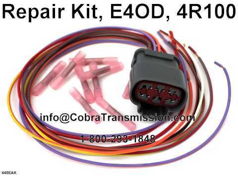 E4OD 4R100 Repair kit external wire harness plugs connector repair kit, e4od, 4r100 [36445eak] $30 99 , cobra transmission Toyota Wire Harness Repair Kit at webbmarketing.co