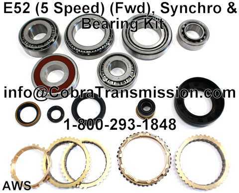E52 Synchro, Bearing, Gasket and Seal Kit