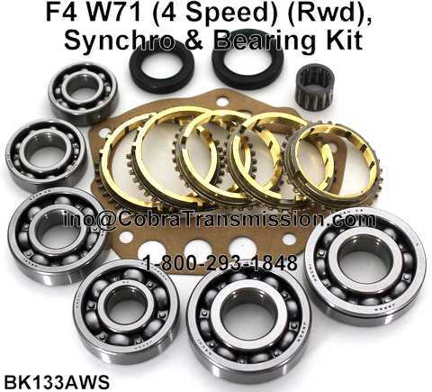 F4 W71 Synchro, Bearing, Gasket and Seal Kit