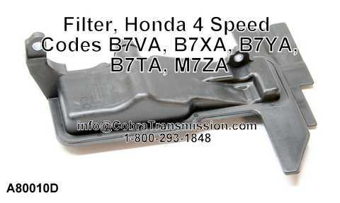 Filter, Honda 4 Speed Codes B7VA, B7XA, B7YA, B7TA, M7ZA