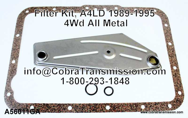 Filter Kit, A4LD 1989-1995 4Wd All Metal