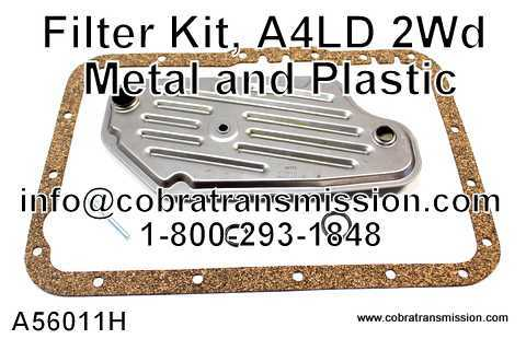 Filter Kit, A4LD 2Wd Metal and Plastic