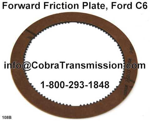 Forward Friction Plate, Ford C6