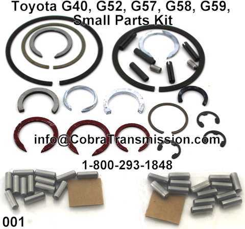 Toyota G40, G52, G57, G58, G59, Small Parts Kit