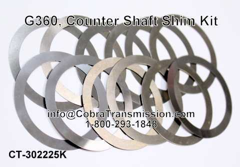 G360, Counter Shaft Shim Kit