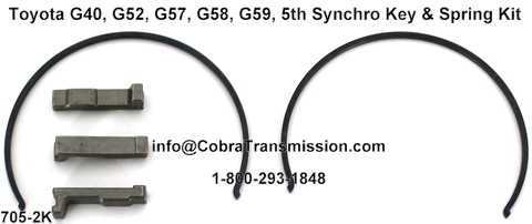 Toyota G40, G52, G57, G58, G59, 5th Synchro Key & Spring Kit