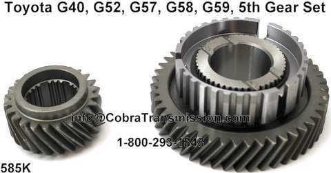 Toyota G40, G52, G57, G58, G59, 5th Gear Set