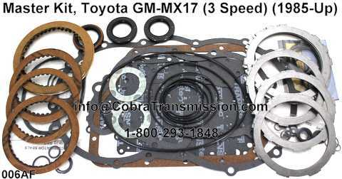 Master Kit, Toyota GM-MX17 (3 Speed) (1985-Up)