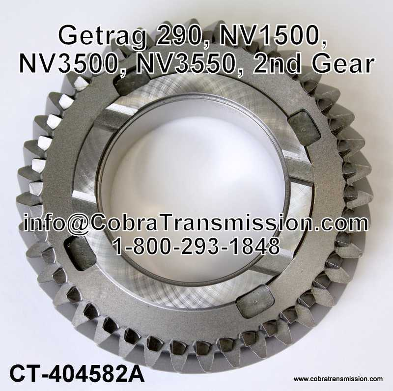 Getrag 290, NV1500, NV3500, NV3550, 2nd Gear