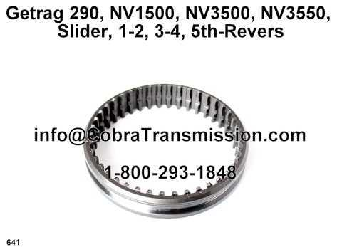Getrag 290, NV1500, NV3500, NV3550, Slider, 1-2, 3-4, 5th-Revers