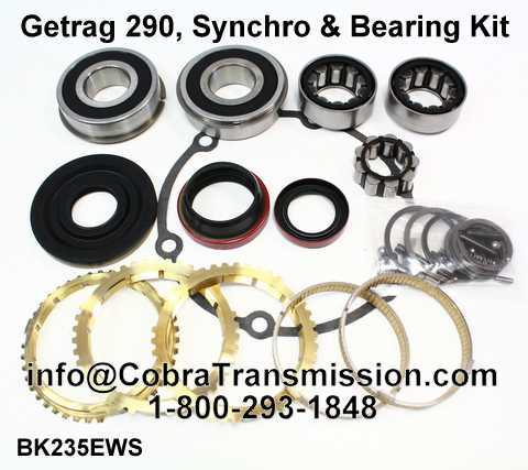 Getrag 290, Synchro, Bearing, Gasket and Seal Kit