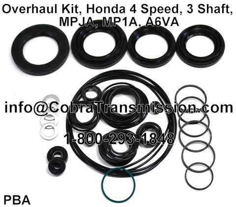 Overhaul Kit, Honda 4 Speed, 3 Shaft, MPJA, MP1A, A6VA