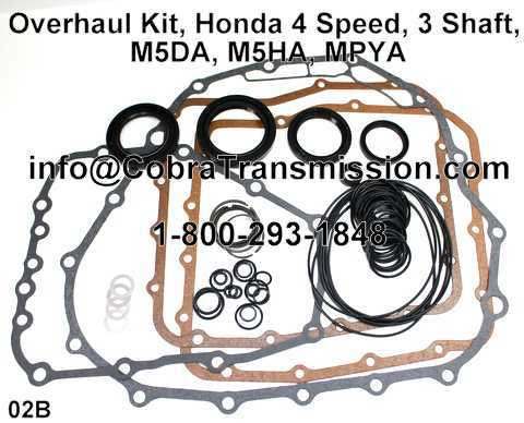 Overhaul Kit, Honda 4 Speed, 3 Shaft, M5DA, M5HA, MPYA