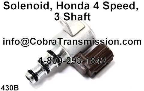 Solenoid, Honda 4 Speed, 3 Shaft