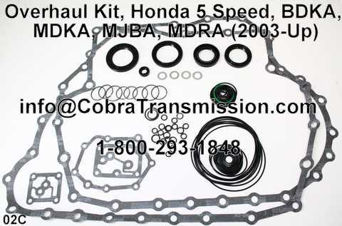 Overhaul Kit, Honda 5 Speed, BDKA, MDKA, MJBA, MDRA (2003-Up)