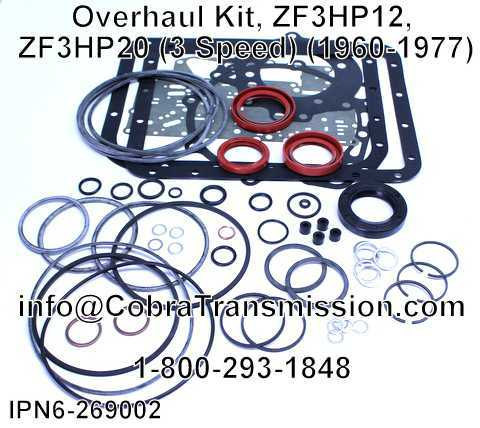 Overhaul Kit, ZF3HP12, ZF3HP20 (3 Speed) (1960-1977)