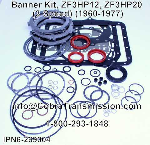 Banner Kit, ZF3HP12, ZF3HP20 (3 Speed) (1960-1977)