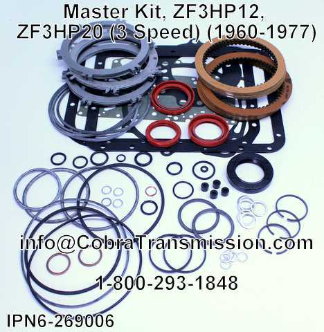 Master Kit, ZF3HP12, ZF3HP20 (3 Speed) (1960-1977)