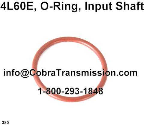 4L60E, O-Ring, Input Shaft