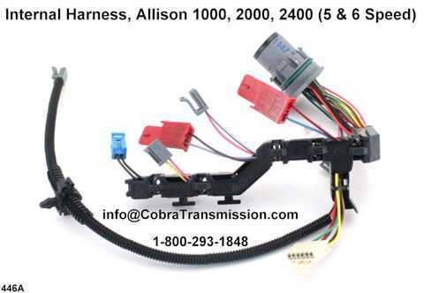 Internal Harness Allison 1000 2000 2400 transmission parts (3) internal harness, allison 1000, 2000, 2400 (5 & 6 speed) [d121446a allison transmission external wiring harness at n-0.co