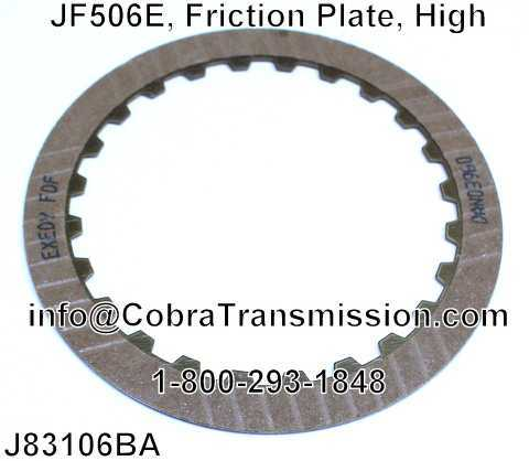 JF506E, Friction Plate, High