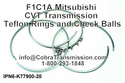 F1C1A Mitsubishi CVT Transmission Teflon Rings and Check Balls