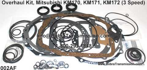 Overhaul Kit, Mitsubishi KM170, KM171, KM172 (3 Speed) (1979-198