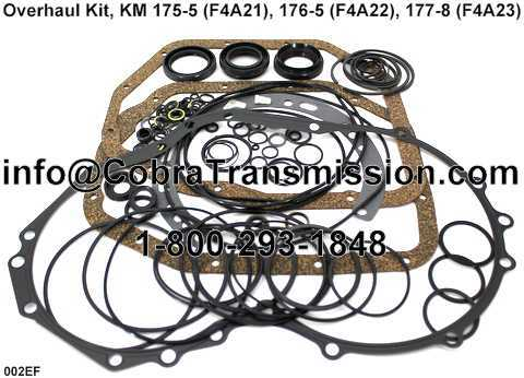 Overhaul Kit, KM 175-5 (F4A21), 176-5 (F4A22), 177-8 (F4A23)