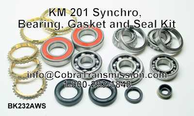 KM 201 Synchro, Bearing, Gasket and Seal Kit