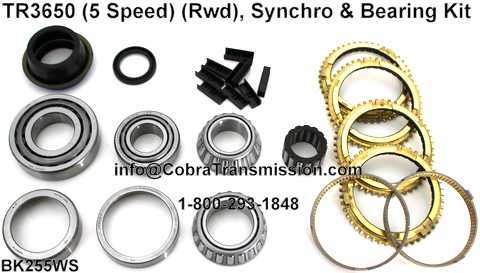 TR3650 Synchro, Bearing, Gasket and Seal Kit